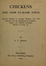 Cover of: Chickens and how to raise them
