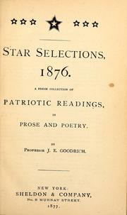 Cover of: Star selections, 1876