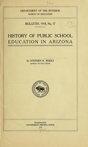 Cover of: History of public school education in Arizona