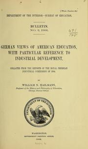 German views of American education, with particular reference to industrial development