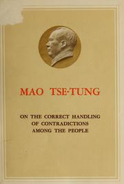 Cover of: On the correct handling of contradictions among the people