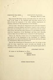 Cover of: President's war order