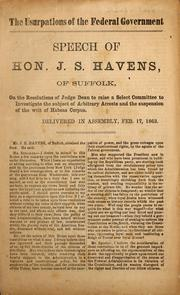 Cover of: The usurpations of the federal government