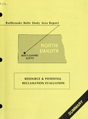 Cover of: Rattlesnake Butte study area report
