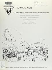 Cover of: Prescribed burning of the sagebrush and pinyon-juniper communities