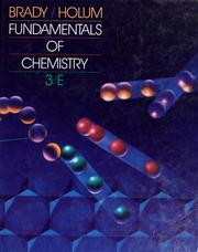 Cover of: Fundamentals of chemistry by James E. Brady