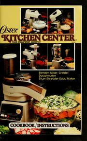 Cover of: The Oster kitchen center food preparation appliance cookbook. | Oster (Firm)