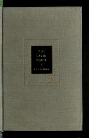 Cover of: The Latin poets. | Francis Richard Borroum Godolphin