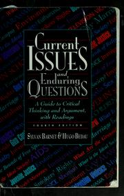 Cover of: Current issues and enduring questions