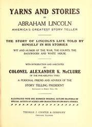Cover of: Yarns and stories by Abraham Lincoln, America's greatest story teller ...
