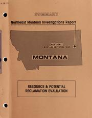 Cover of: Summary Northeast Montana investigations report