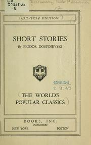 Cover of: Short stories | Fyodor Dostoevsky