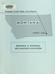 Cover of: Pumpkin Creek study area report