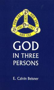 Cover of: God in Three Persons