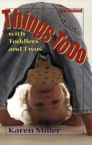 Cover of: Things to do with toddlers and twos