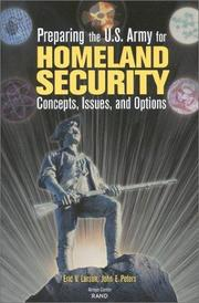 Cover of: Preparing the U.S. Army for Homeland Security