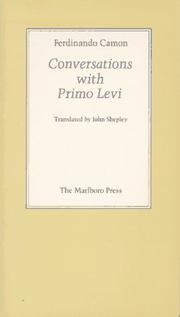 Cover of: Conversations with Primo Levi