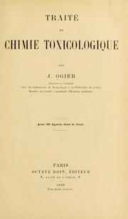Cover of: Traité de chimie toxicologique