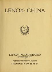 Cover of: Lenox-china