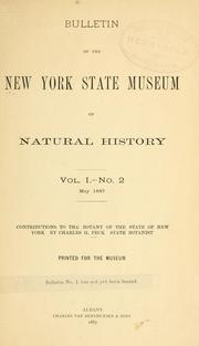Cover of: Contributions to the botany of the state of New York