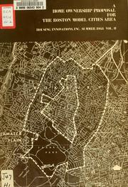 Cover of: A home ownership proposal for the Boston model city area