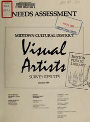 Cover of: Needs assessment: midtown cultural district visual artists survey results