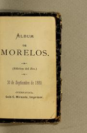 Cover of: Album de Morelos