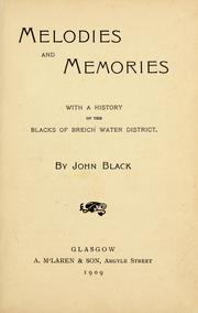 Cover of: Melodies and memories