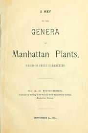 Cover of: A key to the genera of Manhattan plants