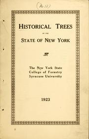 Cover of: Historical trees of the State of New York