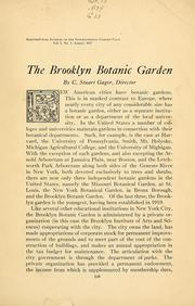The Brooklyn Botanic Garden by C. Stuart Gager