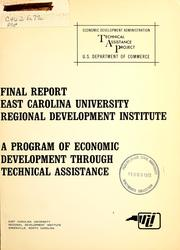 Cover of: Final report