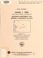 Cover of: Resource assessment for Region 4, Colorado Plateau