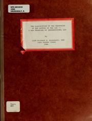 Cover of: The acquisition of the resources of the bottom of the sea