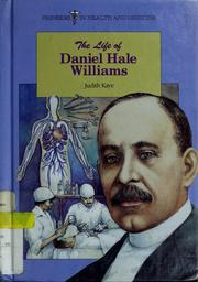 Cover of: Life Of Daniel Hale Williams (Pioneers in Health and Medicine)