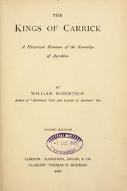 Cover of: The Kings of Carrick | William Robertson