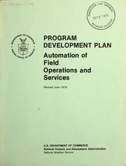 Cover of: Program development plan | United States. National Weather Service.