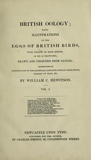 Cover of: British oology