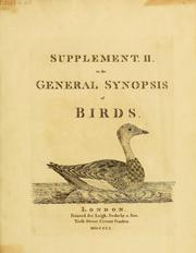 Cover of: Supplement II to the General synopsis of birds