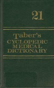 Cover of: Taber's Cyclopedic Medical Dictionary |