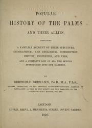 Cover of: Popular history of the palms and their allies