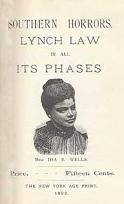 Cover of: Ida B. Wells: mother of the civil rights movement