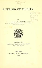 Cover of: A fellow of Trinity | Alan St. Aubyn