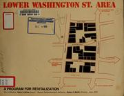 Cover of: Lower Washington street area: a program for revitalization | Boston Redevelopment Authority