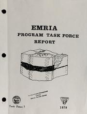 Cover of: EMRIA Program Task Force report