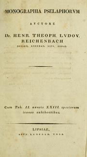 Cover of: Monographia pselaphorvm ...