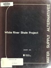 Cover of: White River Shale Project