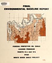 Cover of: Final environmental baseline report