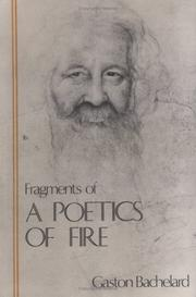 Cover of: Fragments of a Poetics of Fire