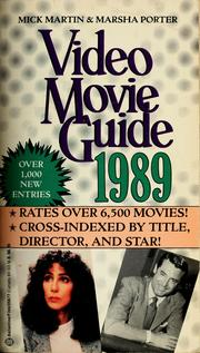 Cover of: Video Movie Guide'89